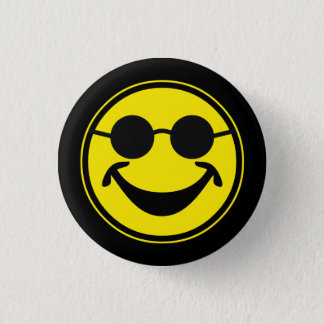Blindes smileygelb + Ihr backg. u. Ideen Runder Button 3,2 Cm