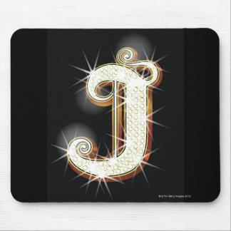 Bling Alphabet J Mauspads