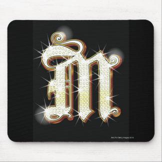 Bling Alphabet M Mauspad