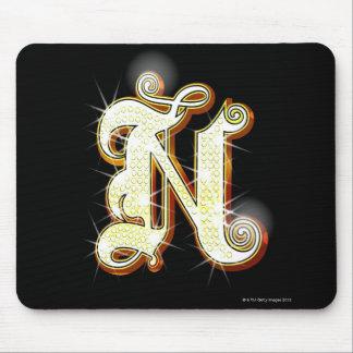 Bling Alphabet N Mauspad