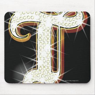 Bling Alphabet T Mauspad