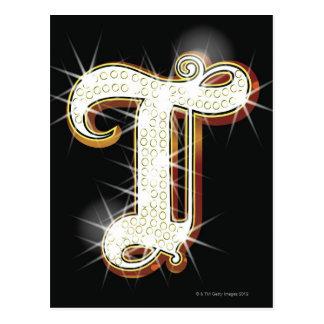 Bling Alphabet T Postkarte