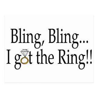 Bling Bling erhielt ich den Ring Postkarte