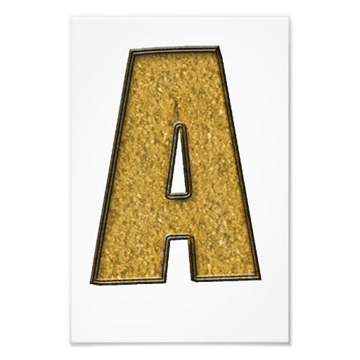 Bling Gold A Foto Drucke