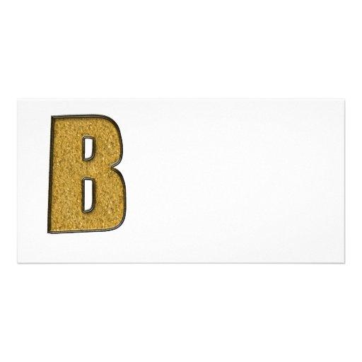 Bling Gold B Foto Karte