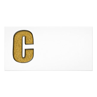 Bling Gold C Personalisierte Foto Karte