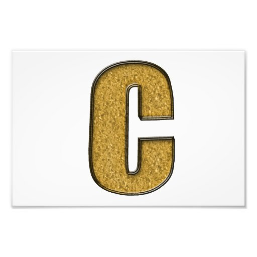 Bling Gold C Fotografische Drucke