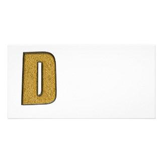 Bling Gold D Bilderkarte