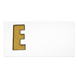 Bling Gold E Individuelle Foto Karten