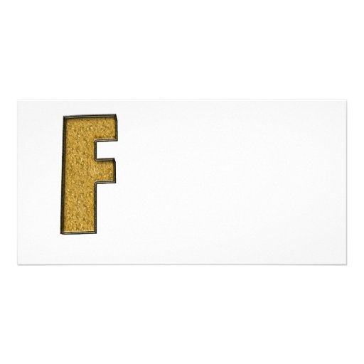Bling Gold F Fotokartenvorlage