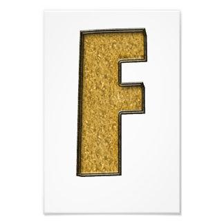 Bling Gold F Photographischer Druck