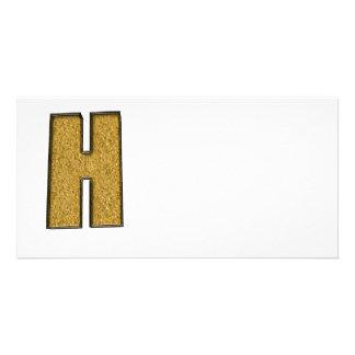 Bling Gold H Foto Grußkarte