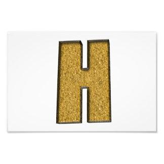 Bling Gold H Kunstphoto