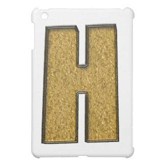 Bling Gold H iPad Mini Hülle