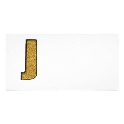 Bling Gold J Photokartenvorlage