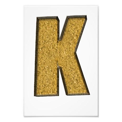Bling Gold K Fotodruck