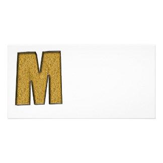 Bling Gold M Foto Grußkarte