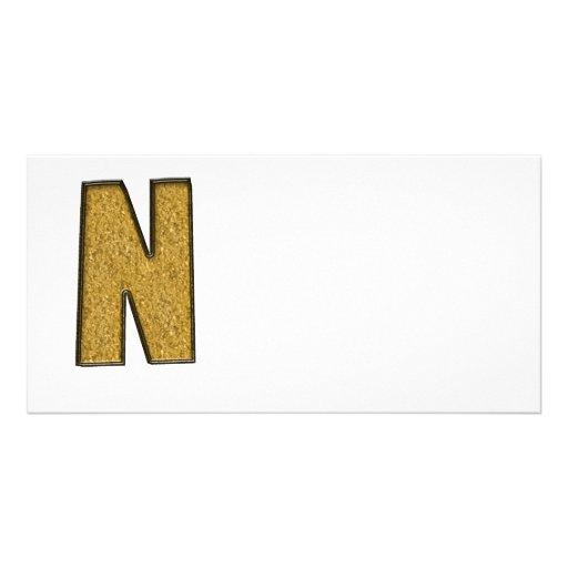 Bling Gold N Foto Karten Vorlage