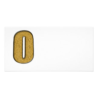 Bling Gold O Fotokartenvorlage