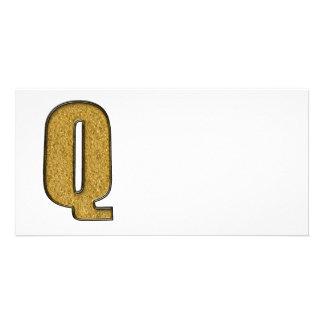 Bling Gold Q Bild Karte