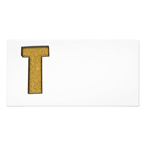 Bling Gold T Foto Karten Vorlage
