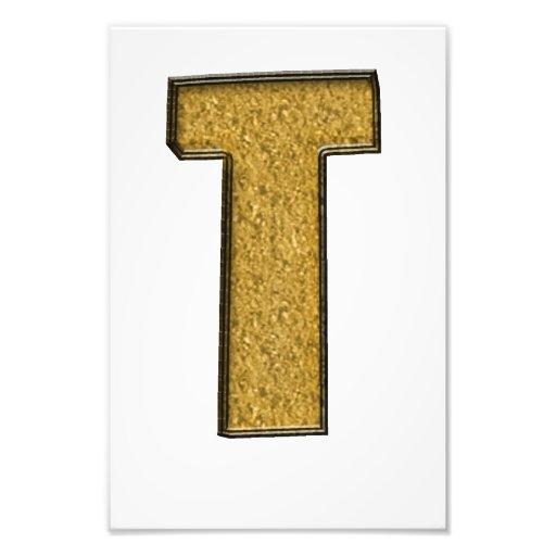 Bling Gold T Photodruck