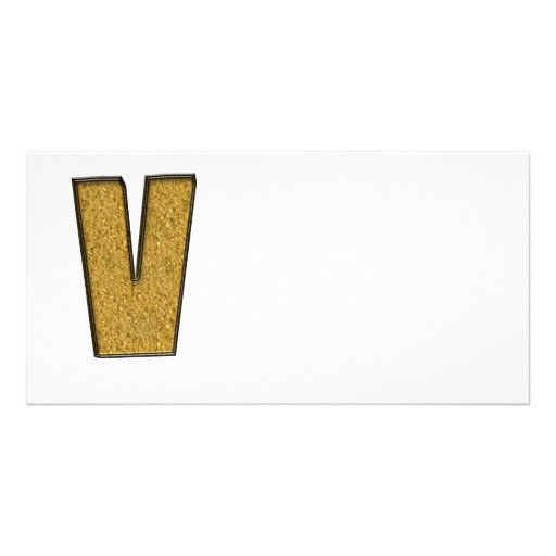 Bling Gold V Photo Karten Vorlage
