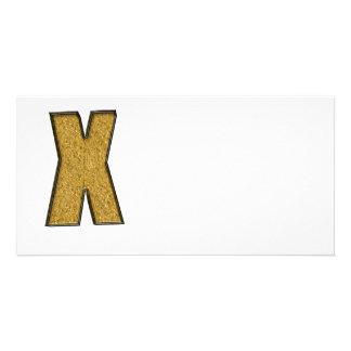 Bling Gold X Fotokarte