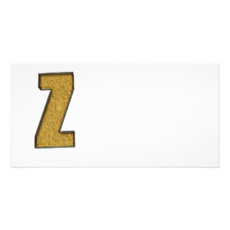 Bling Gold Z Bilderkarte