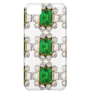Bling großer Smaragd-Diamant-Schmuck Iphone Fall iPhone 5C Hülle