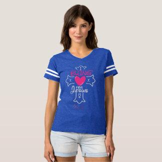 Bling Leben I Bling für Jesus-Fußball-T - Shirt