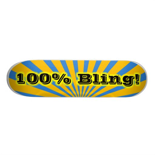 Bling Skateboard 100%