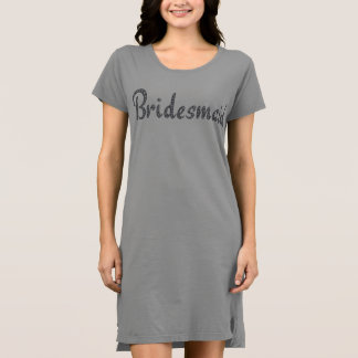 Bling T - Shirtkleid der Brautjungfer Kleid
