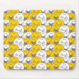 Blinkendes Lächeln-Muster Herr-Happy | Mauspad