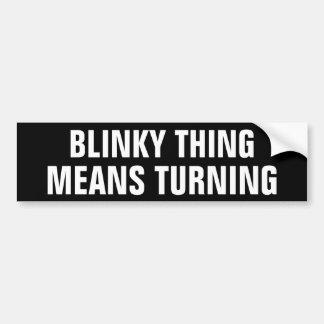 Blinky Sache-Durchschnitt-Drehen Autoaufkleber