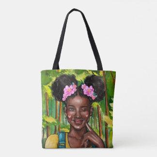 Blinzeln der Afro-Mädchen-Tasche Tasche