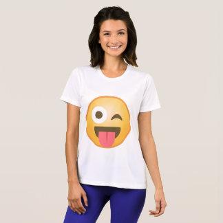 Blinzeln der Zunge Emoji T-Shirt