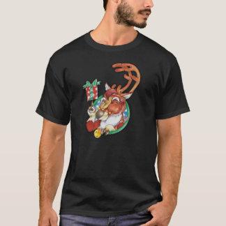 Blinzeln des Feiertags-Weihnachtsren-T-Shirts für T-Shirt