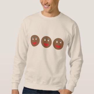 Blinzeln des Lebkuchens Emojis Sweatshirt
