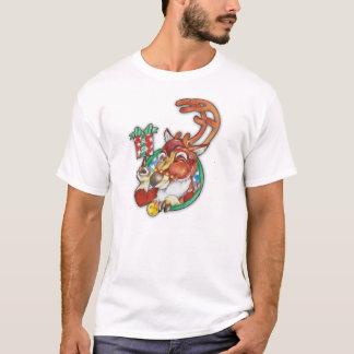 Blinzeln des Ren-Feiertags-T-Shirts für Männer T-Shirt