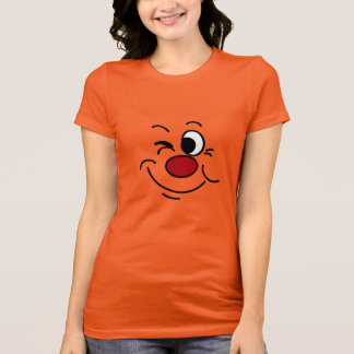 Blinzeln des Smileys Grumpey T-Shirt