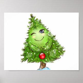 Blinzeln des Weihnachtsbaum-Plakats Poster