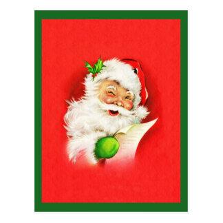 Blinzeln von Weihnachtsmann Postkarte