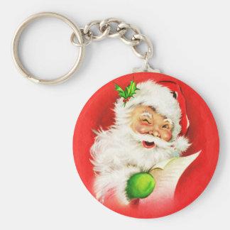 Blinzeln von Weihnachtsmann Schlüsselanhänger