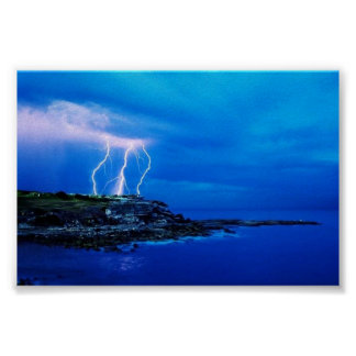 Blitz auf der Küste Poster
