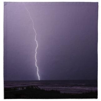 Blitz auf Ozean Serviette