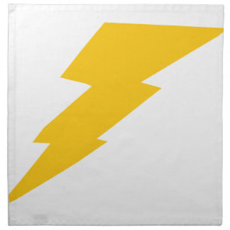 Blitz-Bolzen, Gelb, Donner, Sturm, Superheld Stoffserviette