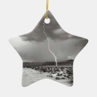 Blitz-Joshua-Baum B&W Keramik Stern-Ornament