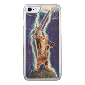 Blitz-Katze Carved iPhone 8/7 Hülle