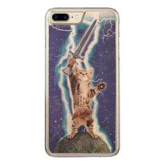 Blitz-Katze Carved iPhone 8 Plus/7 Plus Hülle